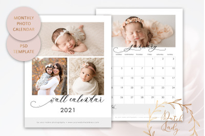 PSD Photo Calendar Template 2021 #1