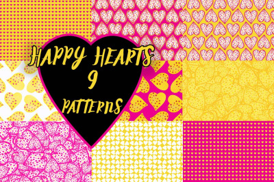 Happy Hearts 9 Patterns