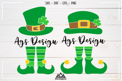 St Patricks Day Leprechaun Split Frame Svg Design