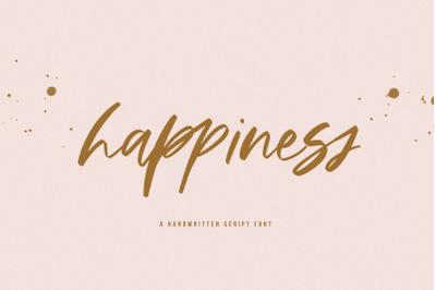Happiness - A Handwritten Script Font