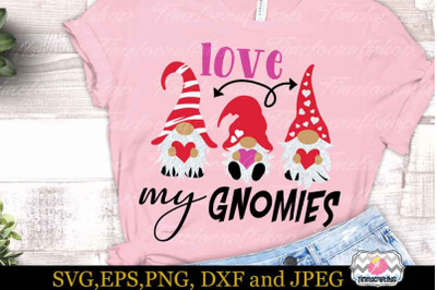 SVG, Eps, Dxf, Jpeg & Png For Valentine Love my Gnomies