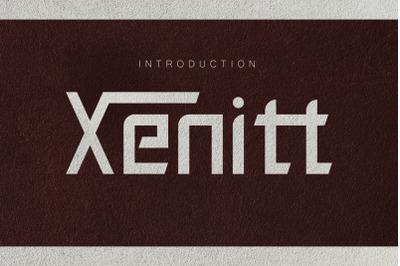 Xenitt font