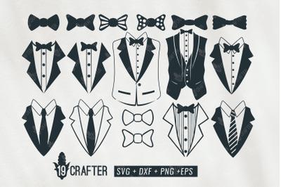 tuxedo gentlemen suit svg bundle