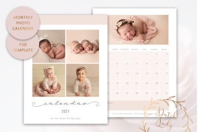 PSD Photo Calendar Template 2021 #2