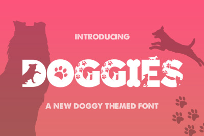 Doggies Silhouette Font