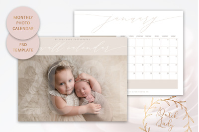PSD Photo Calendar Template 2021 #3