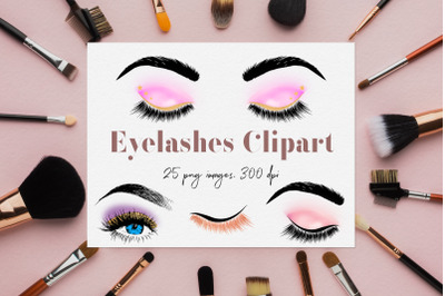 Eyelashes Clipart, Glam Eyes