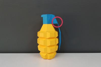 DIY Hand Grenade - 3d papercraft