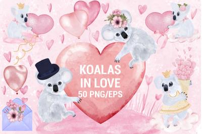 Koalas In Love Decoration Bundle