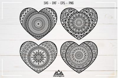 Heart Love Mandala Packs Svg Design