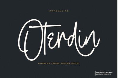 Oterdin - Handwritten Font