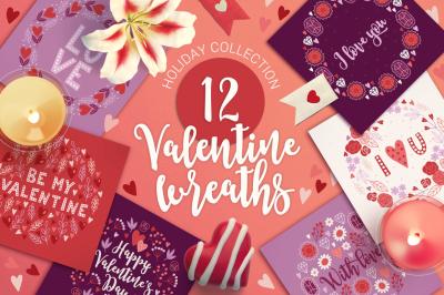 12 Valentine Wreaths