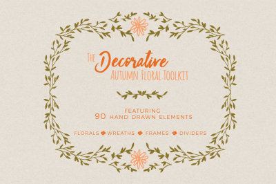 Decorative Autumn Floral Toolkit