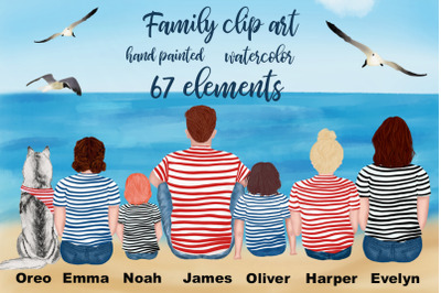 Family cliart, PEOPLE CLIPART, People sitting, Landscape