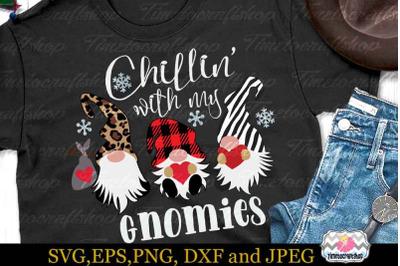 Valentine Chillin with my gnomies, Buffalo Plaid Svg, Zebra Svg
