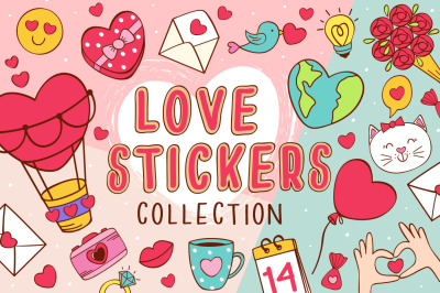 love stickers collection