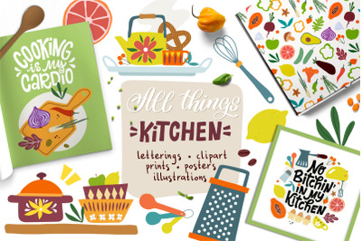 All Things Kitchen - Graphics Set