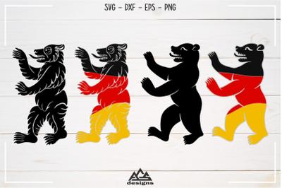 Bear Germany Flag Svg Design