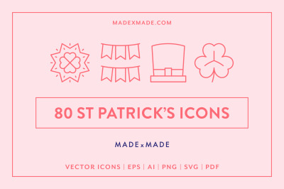 Line Icons  St Patricks Day