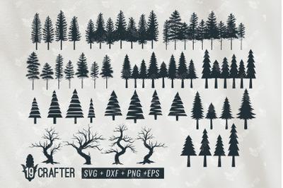 tree forest, pine tree forest svg bundle