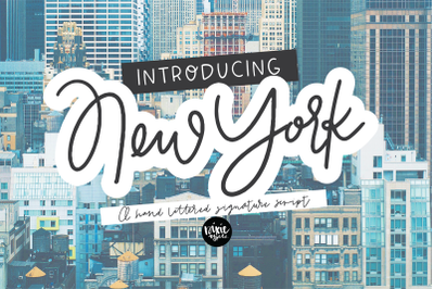 NEW YORK a Hand Lettered Signature Script Font