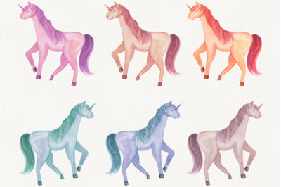 watercolor unicorns
