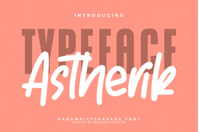 Astherik - Handwritten Free Sans Font