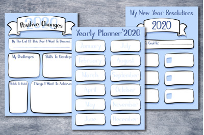2020 Yearly Goal And Resolution Pack