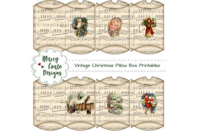 Vintage Christmas Pillow Boxes Printable