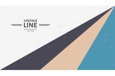 vintage line vector background illustration.