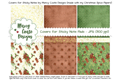 Christmas Spice Sticky Note Covers