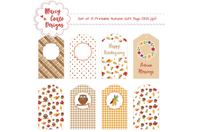 Autumn Delight Gift Tags Printable