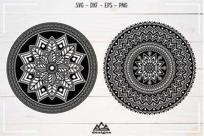 2 Set Mandala Zentangle Svg Design