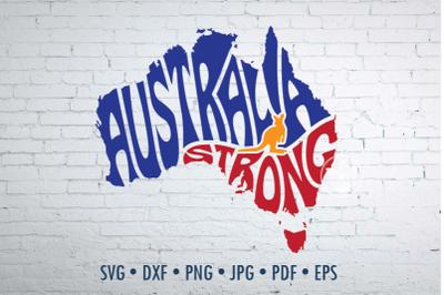 Australia Strong Word Art, Svg Dxf Eps Png Jpg, Cut file