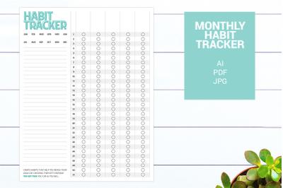 Habit and Goal Tracker Customizable