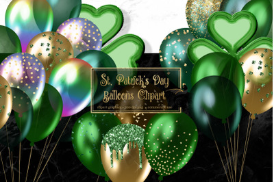 St Patrick's Day Balloons Clipart