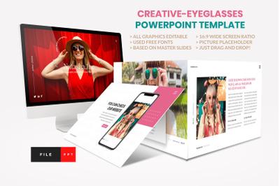 Fashion  - Eyeglasses PowerPoint Template