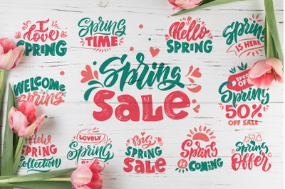 Spring sale. Emblems collection