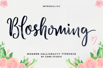 Bloshoming Script