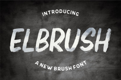 Elbrush - A New Brush Font