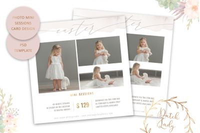 PSD Photo Session Card Template #54