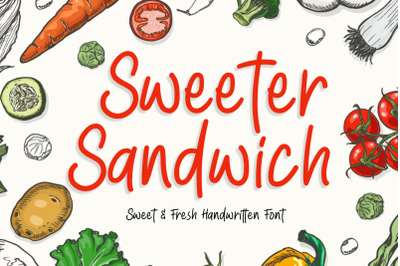 Sweeter Sandwich Handwritten Font