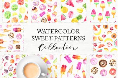15 Watercolor Sweet Seamless Pattern