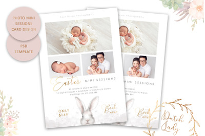 PSD Photo Session Card Template #55