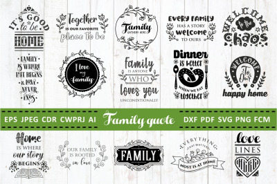 Love Family Quotes. SVG bundle. Vol. 2