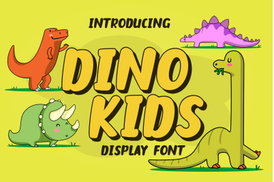 Dino Kids - Display font