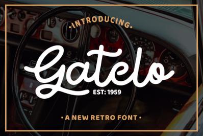 Gatelo - Clasic Retro Font