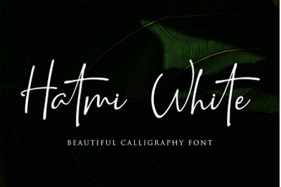 Hatmi White - Signature font