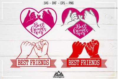 Best Friends Pinky Promise Svg Design