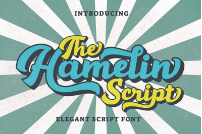 Hamelin - Retro Script Font